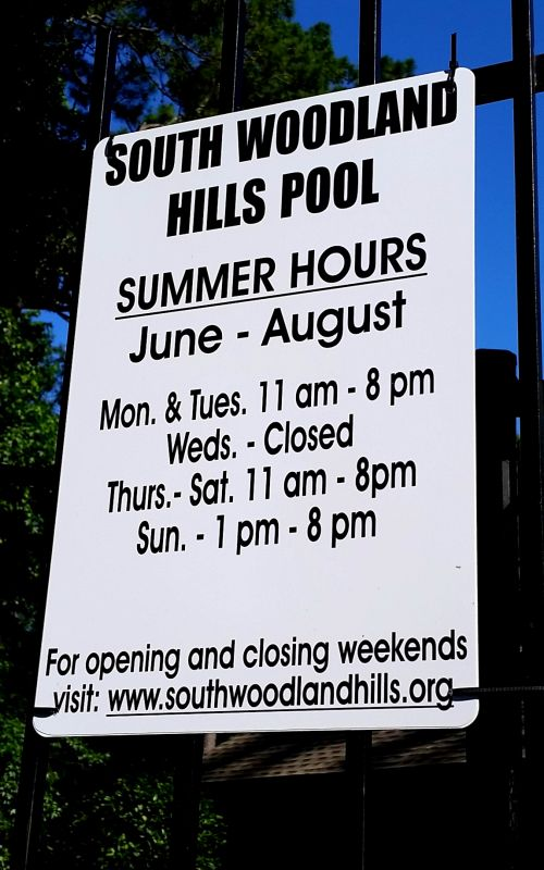 Summer Pool Hours